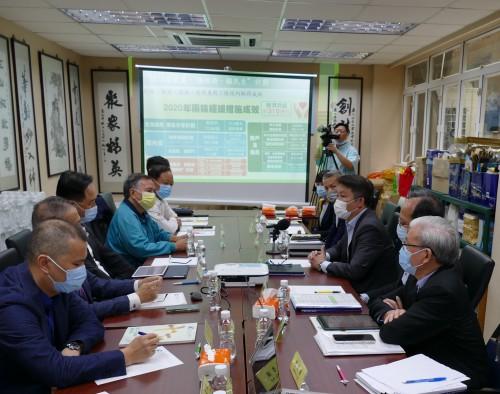 經財司司長李偉農及轄下部門主要官員到訪本會